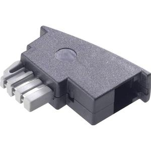 922728 Telefon (analog) Adapter [1x TAE-N-Stecker - 1x RJ11-Buchse 6p4c] 0m Schwarz